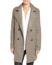 Petite Halogen Double Breasted Boucle Coat