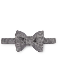 Tom Ford Pre Tied Herringbone Silk And Cotton Blend Bow Tie