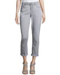 Slim leg cropped boyfriend jeans vintage gray medium 650874