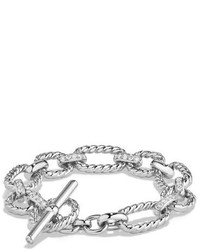 125mm cushion link chain bracelet with diamonds medium 648497