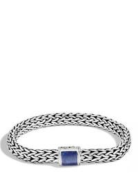 John Hardy Medium Batu Classic Chain Bracelet With Clasp Station