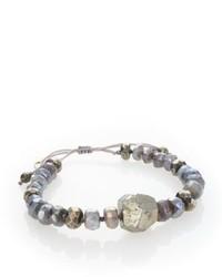 Chan Luu Mystic Lab Pyrite Pull Tie Bracelet