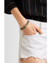 Carolina Bucci Recharmed Lucky 18-karat Yellow, Rose And White Gold And Agate Bracelet - Gray