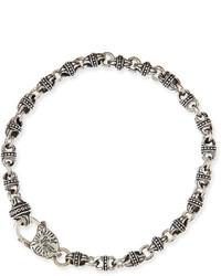 Sterling silver mini link bracelet medium 608770