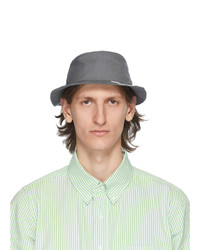 Thom Browne Grey 4 Bar Classic Bucket Hat