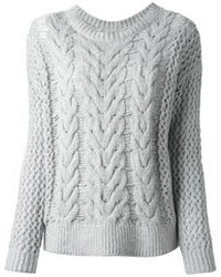 Grey cable sweater original 1336335