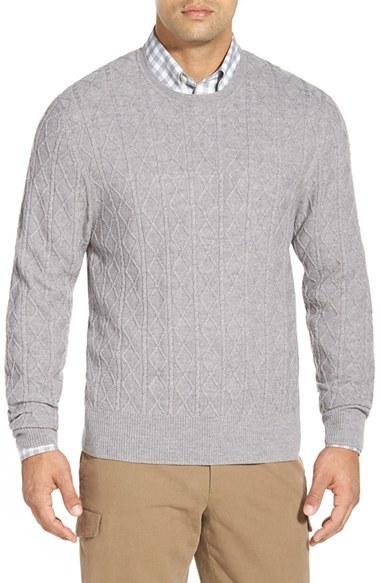 113068b928b135 Brooks Brothers Aran Cable Knit Merino Wool Sweater, $148 ...