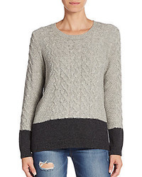 Vince Cable Knit Colorblock Yak Wool Sweater