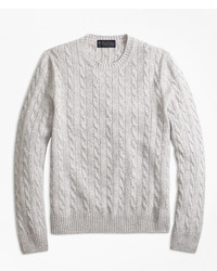 Brooks Brothers Cable Knit Crewneck Cashmere Sweater