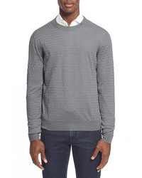 Canali Cable Knit Crewneck Sweater