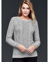 Women's Grey Cable Sweaters by Gap | Women's Fashion