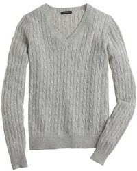 Cambridge cable v neck sweater medium 169213
