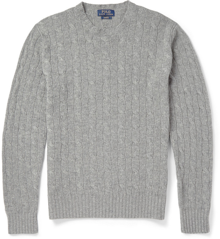Polo Ralph Lauren Cashmere Cable Knit Sweater | Where to buy & how ...