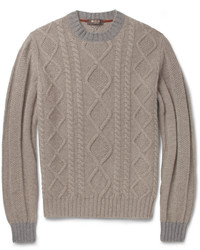 Loro Piana Coarsehair Cable Knit Cashmere Sweater
