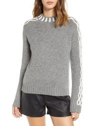 Endless Rose Contrast Knit Sweater