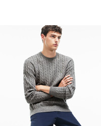 Lacoste Crew Neck Wool Cable Knit Effect Sweater