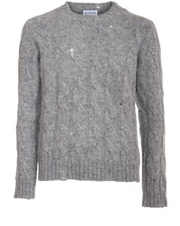 Dondup Distressed Cable Knit Sweater