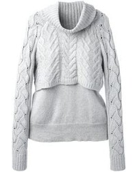 Elizabeth and James Layered Cable Knit Jumper