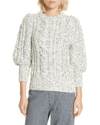 Apiece Apart Ermita Puff Sleeve Sweater