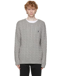 Polo Ralph Lauren Grey Cable Knit Sweater