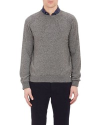 Inis Meain Donegal Effect Sweater Grey