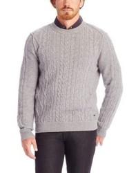 Hugo Boss Klaas Virgin Wool Cable Knit Sweater