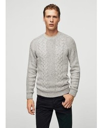 Mango Man Cable Knit Cotton Sweater
