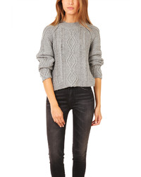 Mixed cable pullover medium 169228