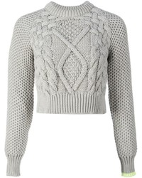 Mm6 maison margiela perforated cable knit jumper medium 384212