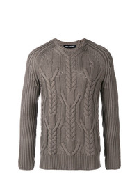Neil Barrett Multi Knit Crew Neck Sweater