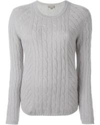 N.Peal Diagonal Cable Sweater