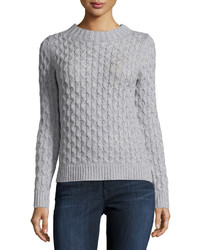 Women's Grey Cable Sweaters by Neiman Marcus | Women's Fashion
