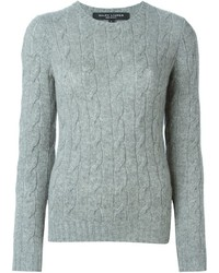 Ralph lauren black cable knit crew neck sweater medium 384208