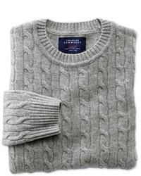 Charles Tyrwhitt Silver Grey Lambswool Crew Neck Sweater