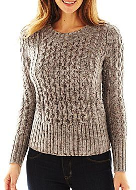 0d7d3db2f301 ... jcpenney St Johns Bay Cable Knit Sweater