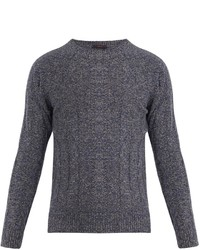 The Gigi Evan Wool Blend Cable Knit Sweater