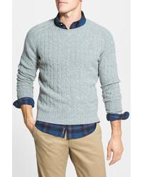 J.Press York Street Todd Duncan Trim Fit Crewneck Wool Sweater