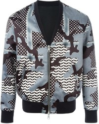 Neil barrett camouflage pattern bomber jacket medium 449041