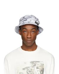 Heron Preston Grey Logo Bucket Hat