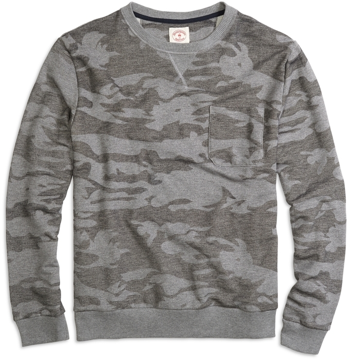 Brooks Brothers Camo Crewneck Sweatshirt | Where to buy & how to wear