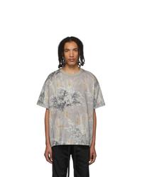 Fear Of God Grey Printed Short Sleeve T Shirt