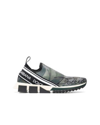 Dolce & Gabbana Printed Low Top Logo Trainers