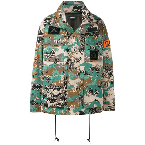Diesel Camouflage Print Jacket