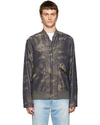 Khaki camouflage bomber jacket medium 700520