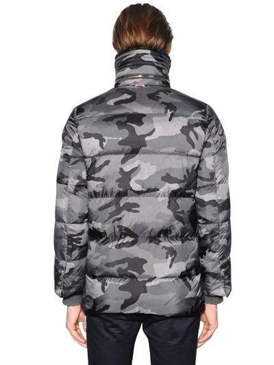 72918ec67 Camouflage Printed Nylon Down Parka