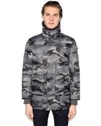 Moncler gamme bleu camouflage printed nylon down parka medium 804751