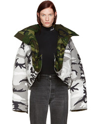 Reversible grey camouflage canada goose edition parka medium 3641499