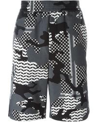 Grey Camouflage Shorts
