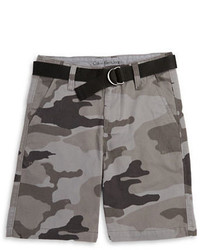 Calvin Klein Jeans Boys 8 20 Camouflage Belted Shorts
