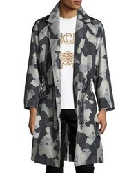 MCM X Cr Collection Splinter Camo Visetos Trench Coat